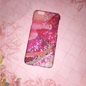 """Iphone 6 4'7"""" cherry blossom fan phone case"""